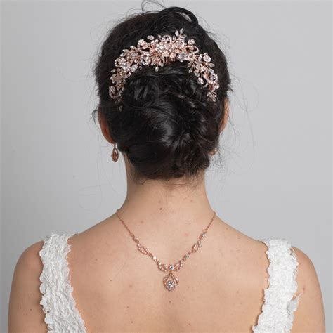 Wedding Hair Bun Wraps by Silver Clear Rhinestone Floral Vine Bridal Wedding Hair