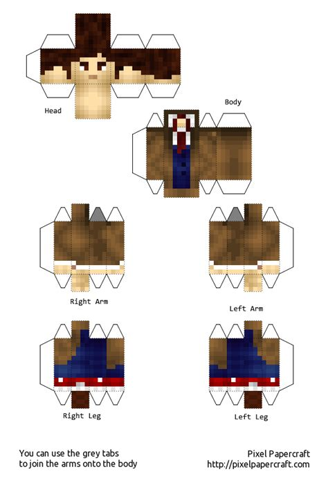 Dr Who Papercraft - papercraft the doctor 10th doctor doctor who