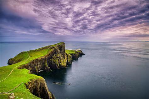 Landscape Sea Point Landscape Nature Sea Rocks Sky Clouds Lighthouse Cape