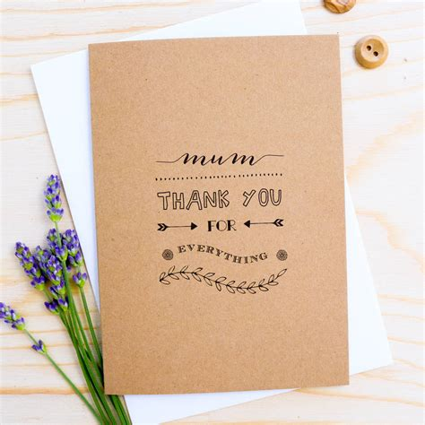 letter thanking for everything thank you for everything card by delightful note
