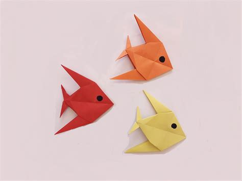 Simple Fish Origami - how to make a paper fish origami paper