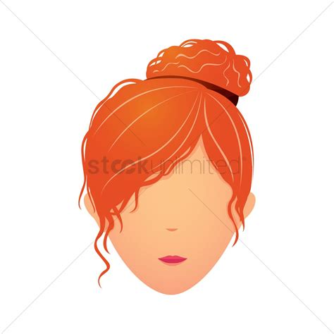 curly hair vector tutorial girl with curly hair bun vector image 1356573