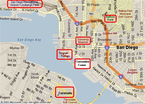 san diego convention center map seaport san diego map