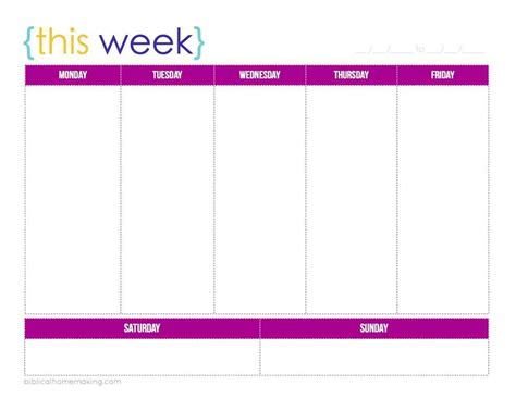 printable 5 day weekly calendar printable 52 week calendar calendar template 2016