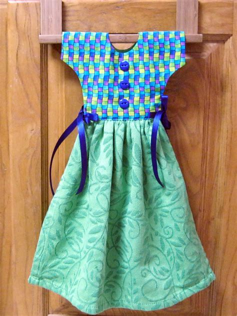 Kitchen Dresses by Kitchen Towel Dress Green Blue And Purple