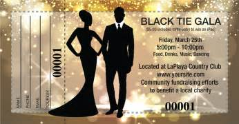 large black tie gala raffle tickets