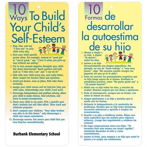 10 Ways To Build Your 10 Ways To Build Your Child S Self Esteem 2 Sided Glancer