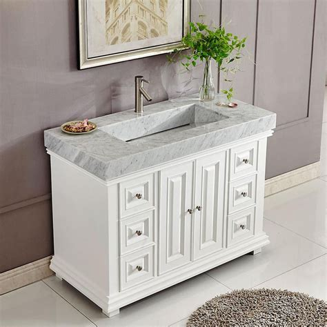 Rectangle Vanity Sink by 48 Quot Modern Single Bathroom Vanity Espresso With Rectangle
