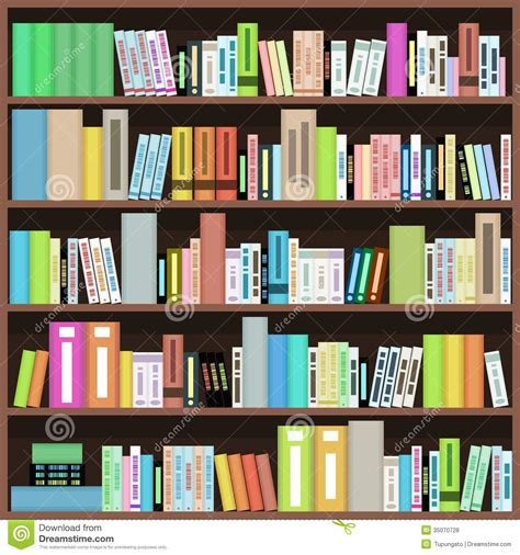 bookcase stock vector illustration of learning genres