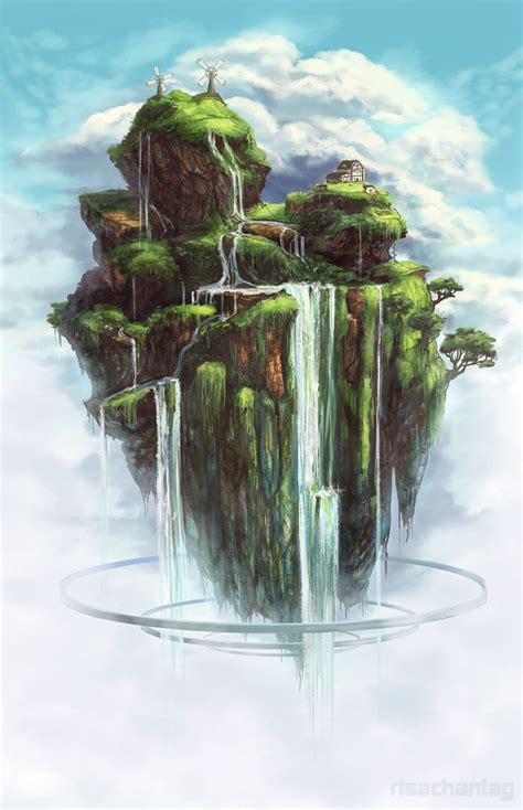 waterfall island waterfall island by risachantag on deviantart