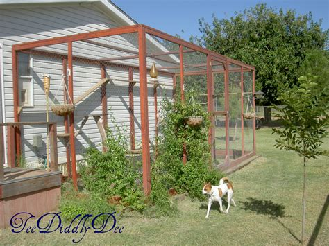 how to build an outdoor cat enclosure or catioteediddlydee