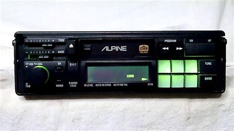 cassette car stereo vintage alpine 7179 am fm cassette car stereo