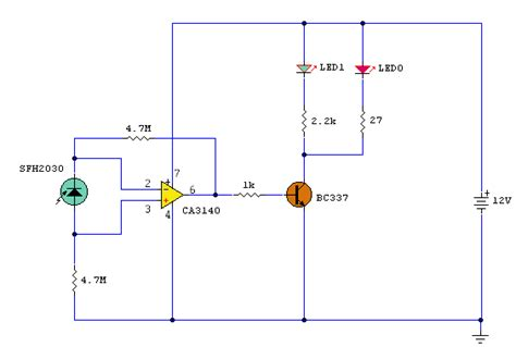 photodiode receiver circuit infra remote extender