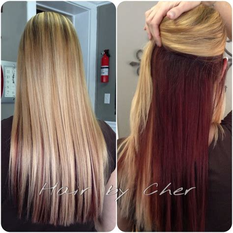 color 2 hair best 25 hair underneath ideas on