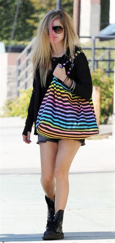 Avril Lavigne Thinks Is Weak by Avril Lavigne Out In Shorts In La 07 Gotceleb