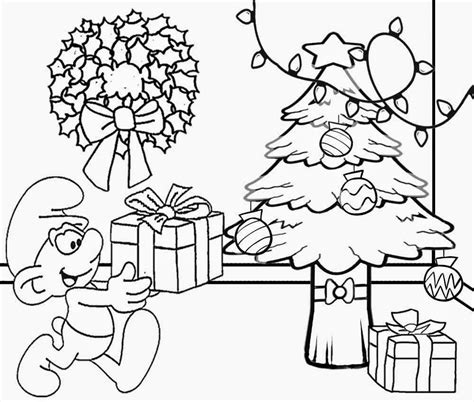 clipart christmas coloring page christmas tree scenery clipart black and white clipground