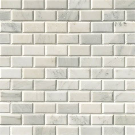 2x4 Beveled Subway Tile Backsplash by Subway Tile Greecian White Subway Tile 2x4 Polished Beveled