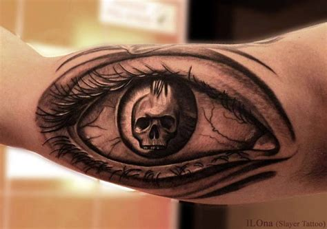 tattoo eye skull skull in eye pupil tattoo on arm tattooimages biz