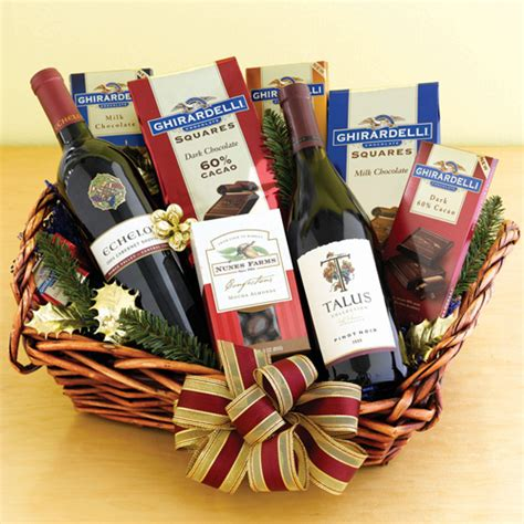 wine and chocolate gift baskets wine chocolate indulgence all about gifts baskets