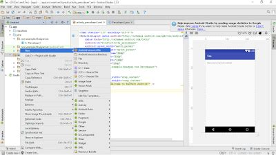 layout xml tutorial mengatur posisi widget pada layout xml android studio