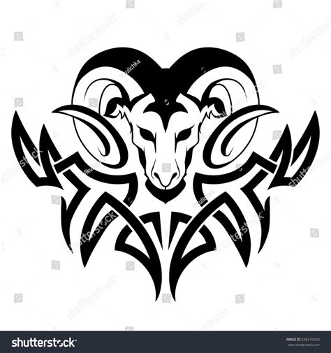 aries tattoo stock vector 538316329 shutterstock