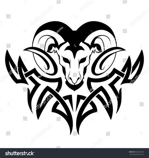 aries tattoo stock vector 538316329 shutterstock