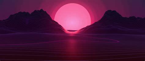 neon sunset hd  wallpaper