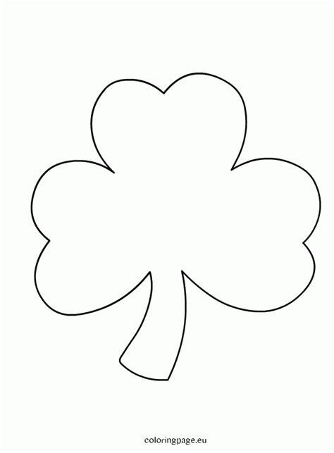 Free Coloring Pages Of Shamrocks Coloring Home Shamrock Coloring Page