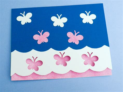 How To Make Paper Cards - card idea scalloped edge card tutorial greeting