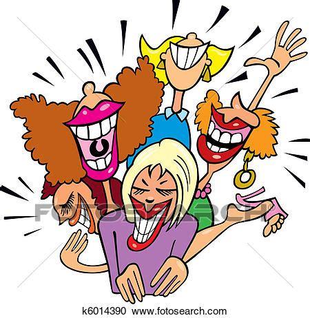 clipart donne clipart donne divertimento e ridere k6014390 cerca