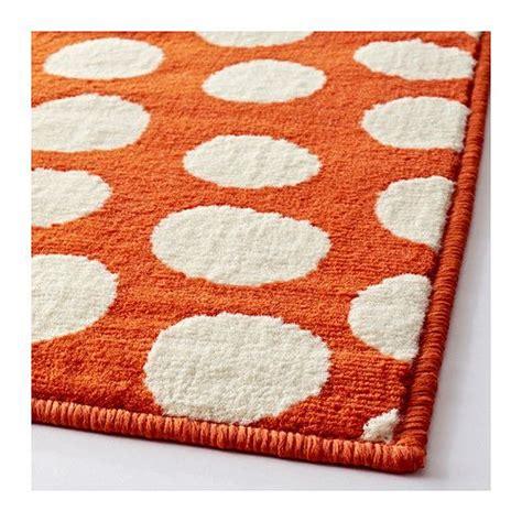orange rugs ikea ullgump rug low pile orange white