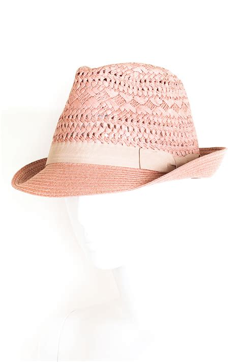 Hat With Paper - paper fedora with cotton detail hats