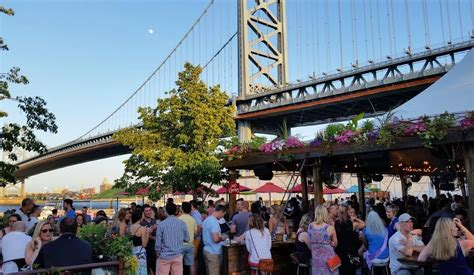 morgans pier philadelphia relaxing outdoors with food and in philly
