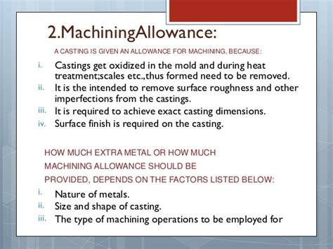 pattern allowances and their construction pattern allowances in metal casting