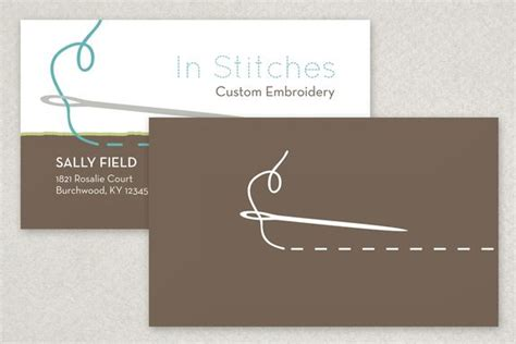 sewing and alteration business card template any embroiderer alteration professional or sewing