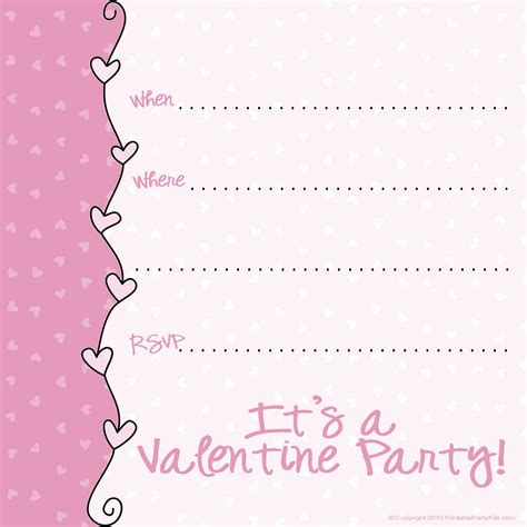 printable valentine invitation 9 best images of valentine s day printable party