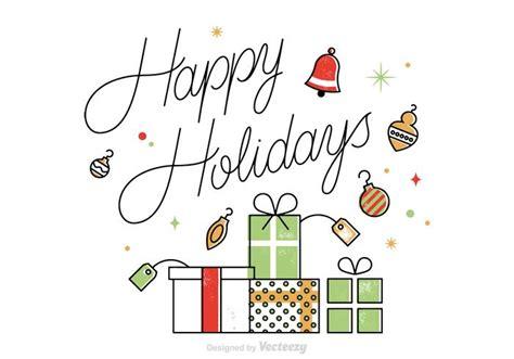 vector happy holidays card   vectors clipart graphics vector art