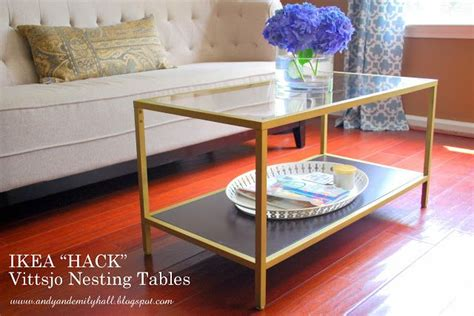 the halls ikea vittsjo nesting tables hack ikea hacks