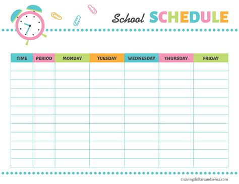 printable schedule for school printable school planning kit