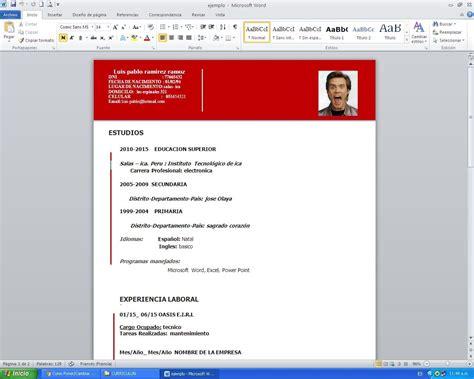Modelo De Curriculum Vitae Documentado Word Modelo De Curriculum Vitae Documentado Modelo De Curriculum Vitae