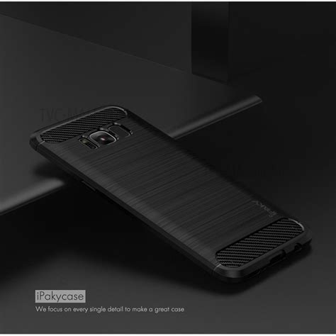 Samsung Galaxy A7 2017 Tpu Ipaky Carbon Soft Silicon Casing Cover ipaky for samsung galaxy s8 plus g955 brushed tpu