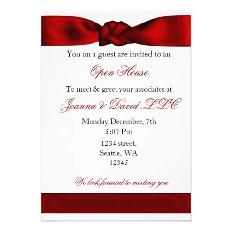 corporate invitation template corporate invitation 5 quot x 7 quot invitation