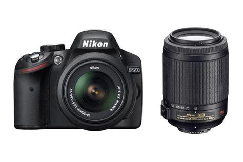 Nikon D3200 Lensa Kit 18 55mm nikon d3200 dslr 18 55mm 55 200mm vr lens