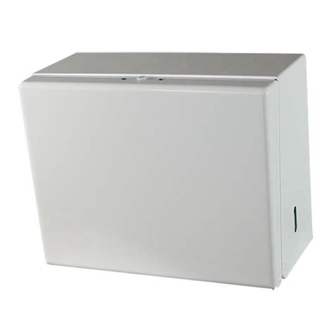 Single Fold Paper Towel Dispenser - impact white enamel single fold towel dispenser