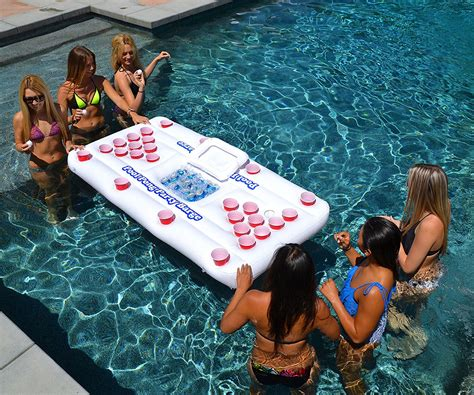 floating pong table float raft island