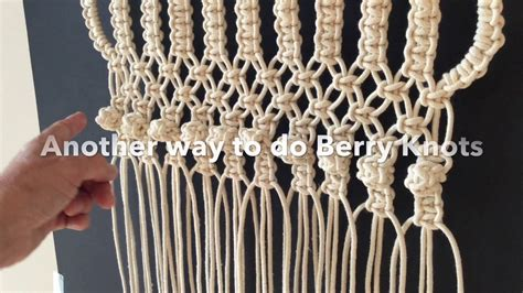 How Do You Macrame - how to do macrame knots two ways to make the berry knot