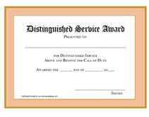 Printable Distinguished Service Awards Certificates Templates Years Of Service Certificate Template