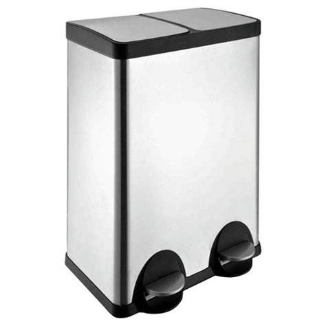 2 section kitchen bin buy 60l stainless steel recycling pedal bin with two