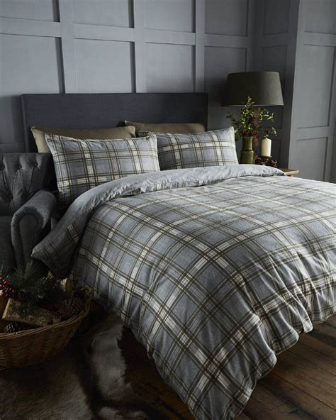 cotton bedding sets 100 brushed cotton tartan quilt duvet cover pillowcase