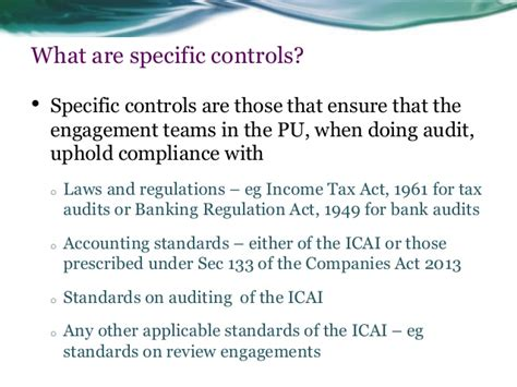 section 35 of income tax act icai peer review compliance with framework of quality control